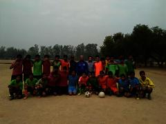 Dipak Adhikari with football team